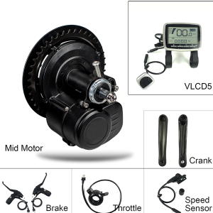 Mid-drive e-bike conversion kit with torque sensor – BikeBoost 350W