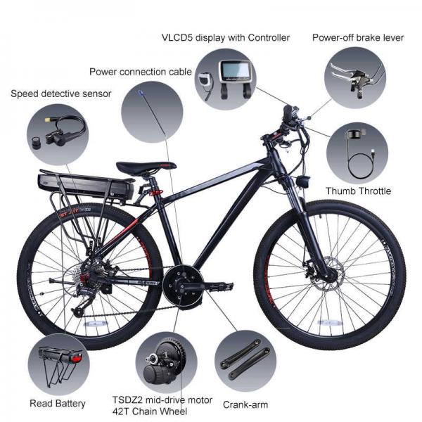 Torque sensor mid-drive e-bike kit